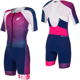 Z3R0D Racer Time Trial Trisuit Women dark blue/pink